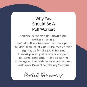 UVA students are recruiting poll workers for the general election